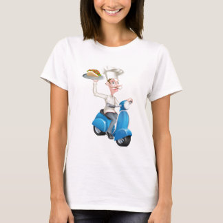 Chef on Scooter Moped Delivering Gyro Kebab T-Shirt