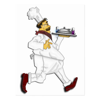 Chef on the run postcard