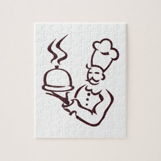 Chef Outline Jigsaw Puzzle