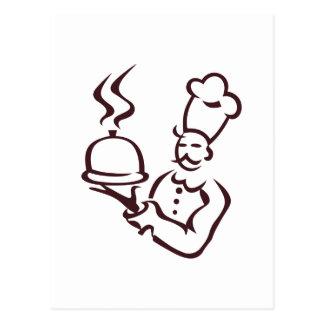 Chef Outline Postcard