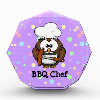 Chef owl acrylic award