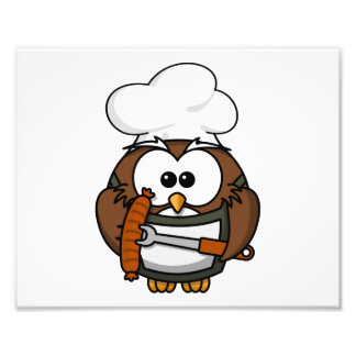 Chef Owl Ready To Barbeque Photo