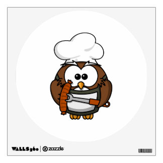 Chef Owl Ready To Barbeque Wall Sticker