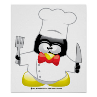 Chef Penguin Poster
