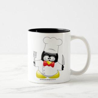 Chef Penguin Two-Tone Coffee Mug