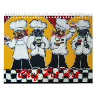 Chef Pet Art Calendar