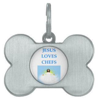 CHEF PET NAME TAG