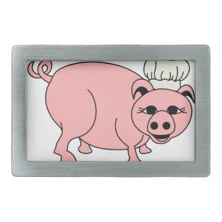 Chef Pig Belt Buckle