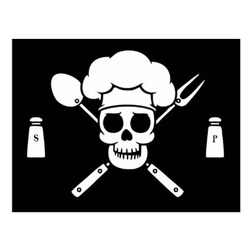 Chef Pirate Postcard