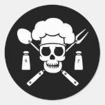 Chef Pirate Round Stickers