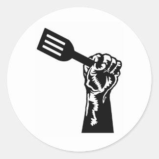 Chef Power Classic Round Sticker