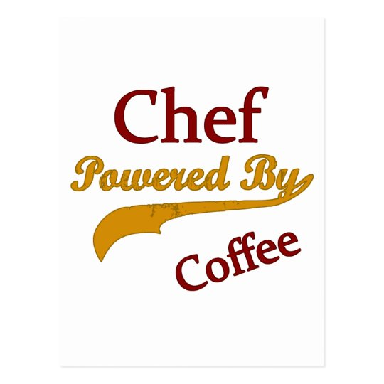 Chef Powered By Coffee Postcard
