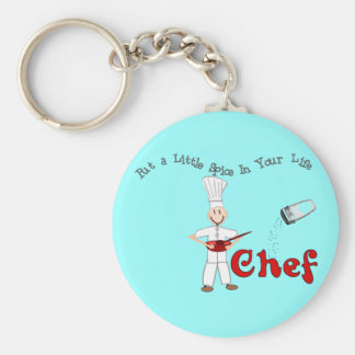 """Chef """"Put a Little Spice in Your Life"""" Basic Round Button Keychain"""