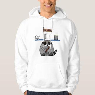 Chef Raccoon on a hoodie