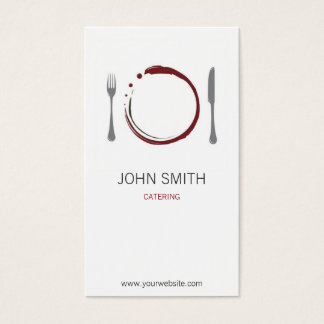 Chef Restaurant and Catering with Plate Business Card
