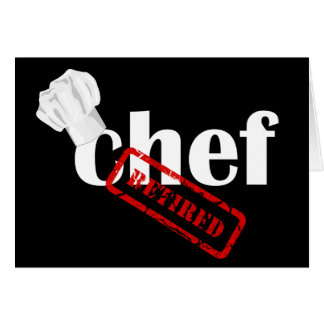 Chef Retirement Greeting Card