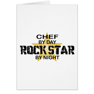 Chef Rock Star by Night Card
