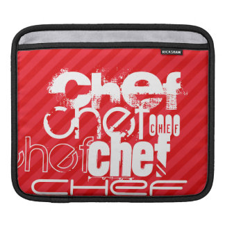Chef; Scarlet Red Stripes iPad Sleeves