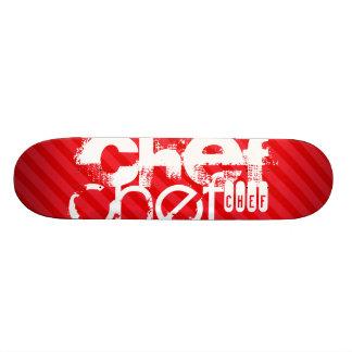 Chef; Scarlet Red Stripes Skateboard