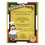 Chef Serving Hot Pizza Party Invitation