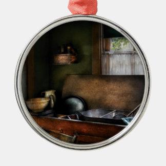 Chef - Sink - The Kitchen Sink Metal Ornament