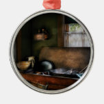 Chef - Sink - The Kitchen Sink Round Metal Christmas Ornament