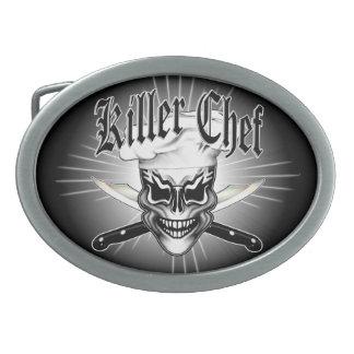 Chef Skull 1 Oval Belt Buckle