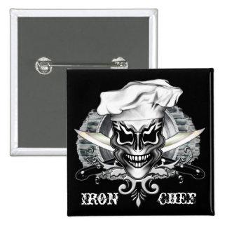 Chef Skull 1 Pinback Button