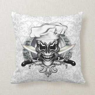 Chef Skull 1 Throw Pillow