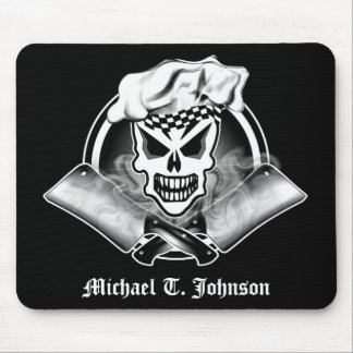 Chef Skull 2 and Crossed Cleavers 2 Mouse Pad