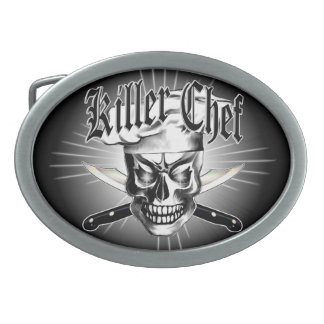 Chef Skull 3.1 Oval Belt Buckle