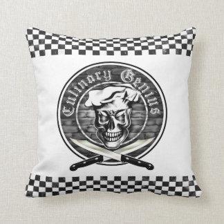 Chef Skull 3.1 Throw Pillow