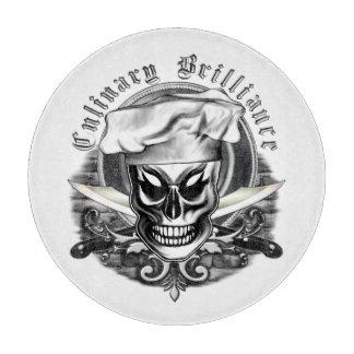 Chef Skull 4: Culinary Brilliance Cutting Board