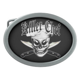 Chef Skull 4: Killer Chef Belt Buckle