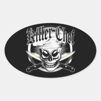 Chef Skull 4: Killer Chef Oval Sticker