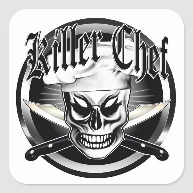 chefs skull sticker Chef crossbones decal cook pastry sous chef badge decal