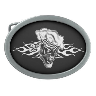 Chef Skull 5 Belt Buckle