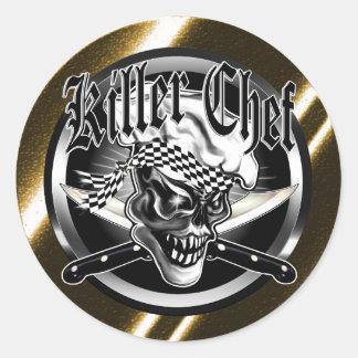Chef Skull 5 Classic Round Sticker