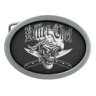 Chef Skull 5 Oval Belt Buckle