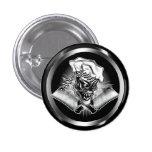 Chef Skull 5 Pinback Button