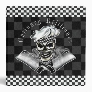 Chef Skull 8 Vinyl Binder