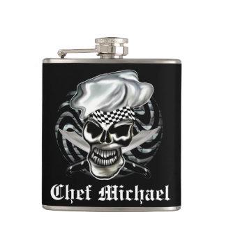 Chef Skull 8 Hip Flask