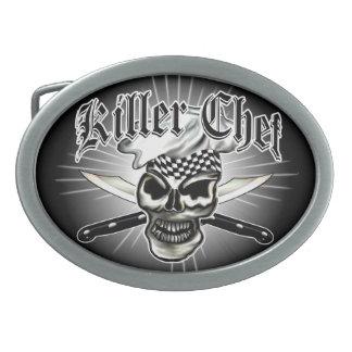 Chef Skull 8 Oval Belt Buckle