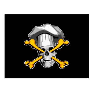 Chef skull and Crossbones Postcard