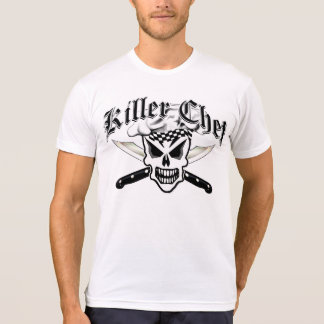 Chef Skull and Crossed Chef Knives 2 Tshirts