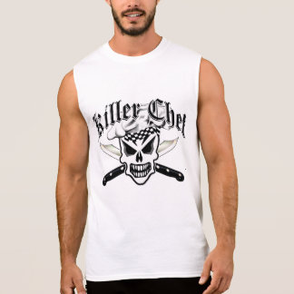 Chef Skull and Crossed Chef Knives 2 Sleeveless Tees