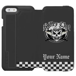 Chef Skull and Crossed Chef Knives 2 Incipio Watson™ iPhone 6 Wallet Case