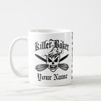 Chef Skull and Crossed Whisks 2: Killer Baker Coffee Mug