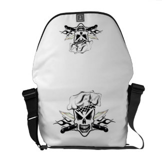 Chef Skull and Flames 2 Courier Bags
