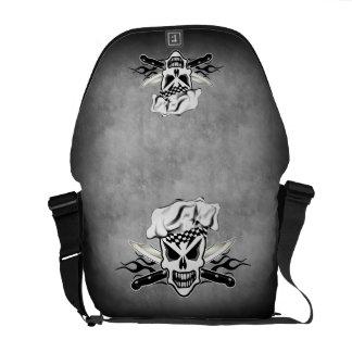 Chef Skull and Flames 2 Messenger Bag